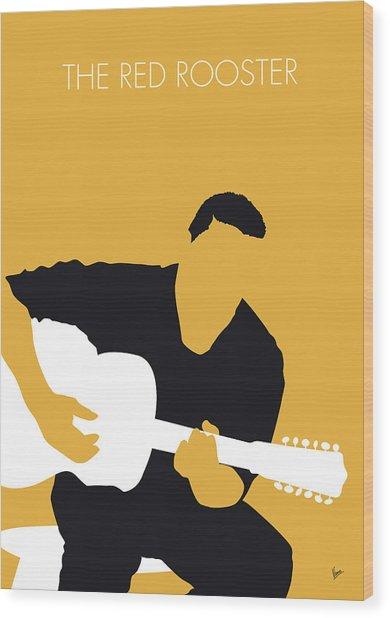 No124 My Howlin Wolf Minimal Music Poster Wood Print