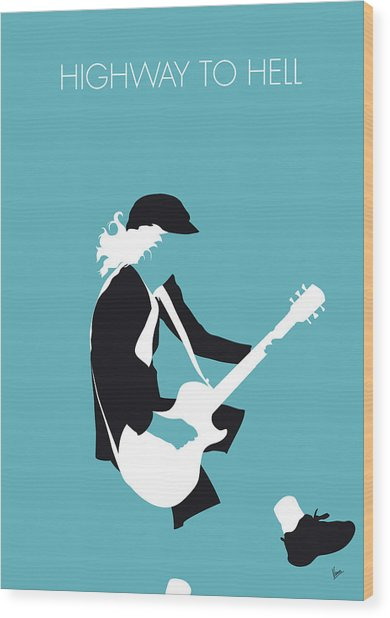 No125 My Acdc Minimal Music Poster Wood Print