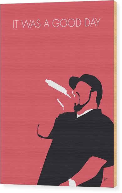 No132 My Ice Cube Minimal Music Poster Wood Print