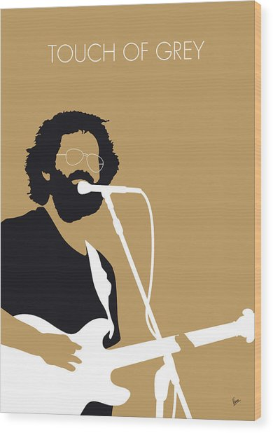 No140 My Grateful Dead Minimal Music Poster Wood Print