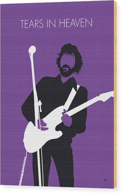 No141 My Eric Clapton Minimal Music Poster Wood Print