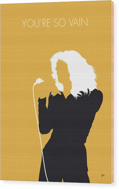 No144 My Carly Simon Minimal Music Poster Wood Print