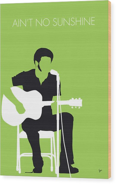No156 My Bill Withers Minimal Music Poster Wood Print