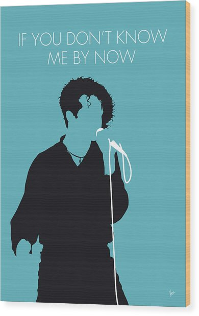 No165 My Simply Red Minimal Music Poster Wood Print