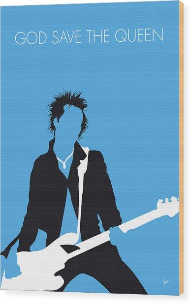 No169 My Sex Pistols Minimal Music Poster Wood Print