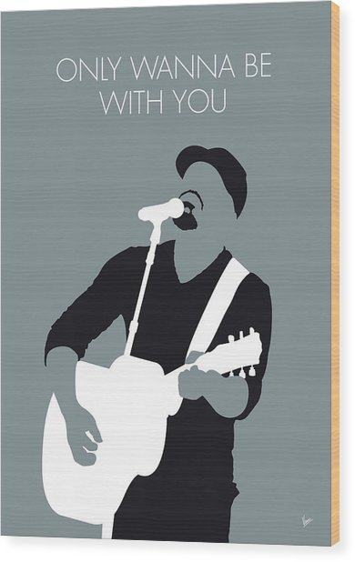 No177 My Hootie And The Blowfish Minimal Music Wood Print