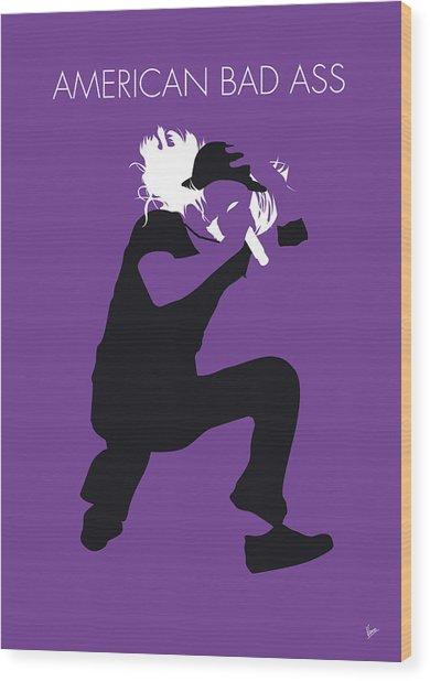 No181 My Kid Rock Minimal Music Poster Wood Print