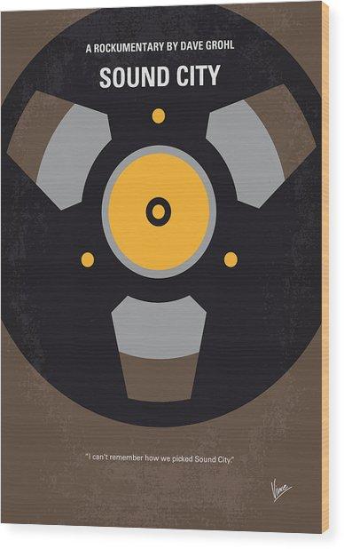 No181 My Sound City Minimal Movie Poster Wood Print