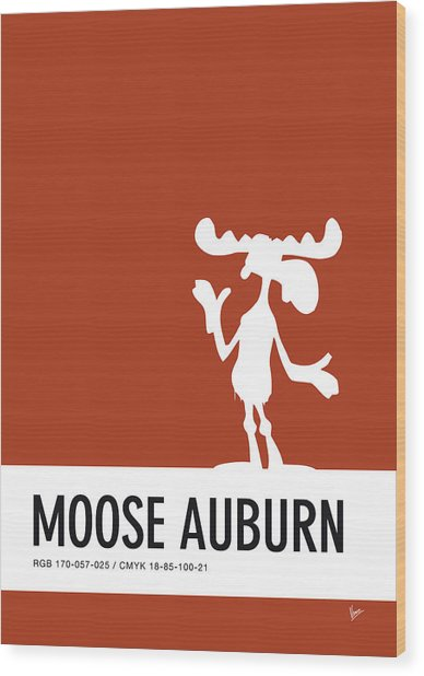 No19 My Minimal Color Code Poster Bullwinkle Wood Print