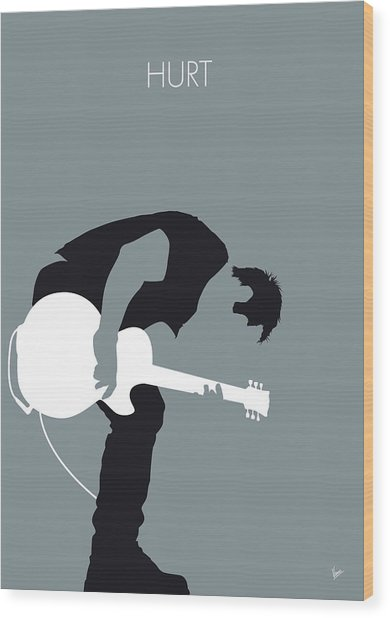No197 My Nine Inch Nails Minimal Music Poster Wood Print