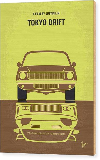 No207-3 My Tokyo Drift Minimal Movie Poster Wood Print