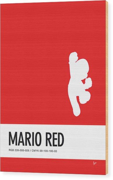 No33 My Minimal Color Code Poster Mario Wood Print