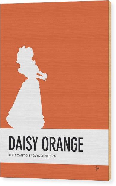 No35 My Minimal Color Code Poster Princess Daisy Wood Print