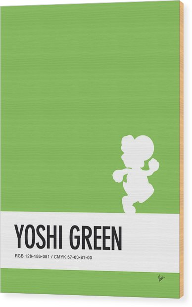 No36 My Minimal Color Code Poster Yoshi Wood Print