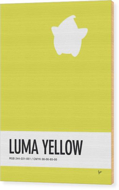 No40 My Minimal Color Code Poster Luma Wood Print