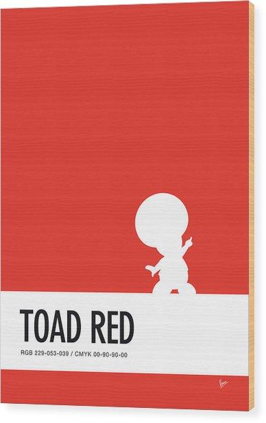 No41 My Minimal Color Code Poster Toad Wood Print