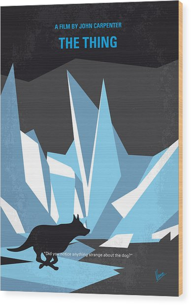 No466 My The Thing Minimal Movie Poster Wood Print