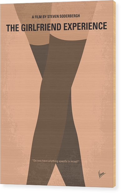 No438 My The Girlfriend Experience Minimal Movie Poster Wood Print