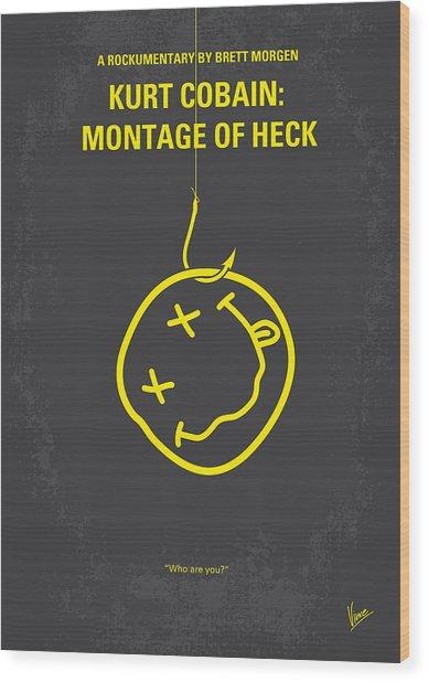 No448 My Montage Of Heck Minimal Movie Poster Wood Print
