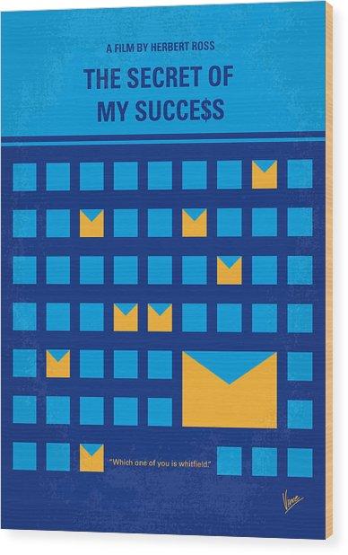 No464 My The Secret Succes Minimal Movie Poster Wood Print