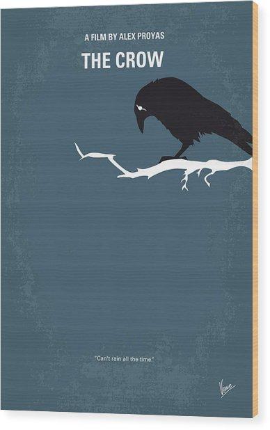 No488 My The Crow Minimal Movie Poster Wood Print
