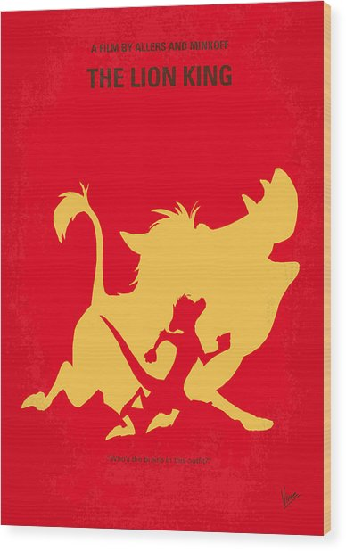 No512 My The Lion King Minimal Movie Poster Wood Print