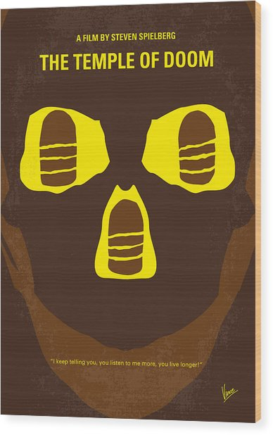 No517 My The Temple Of Doom Minimal Movie Poster Wood Print