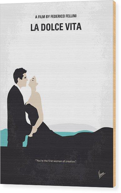 No529 My La Dolce Vita Minimal Movie Poster Wood Print