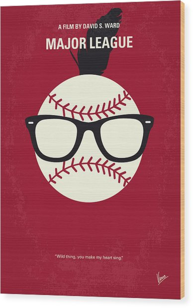No541 My Major League Minimal Movie Poster Wood Print