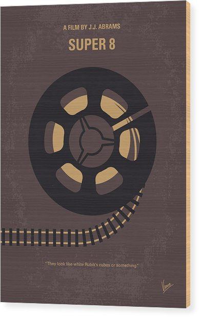 No578 My Super 8 Minimal Movie Poster Wood Print