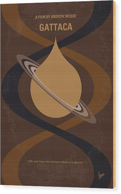 No588 My Gattaca Minimal Movie Poster Wood Print