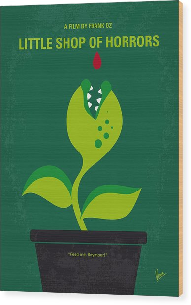 No611 My Little Shop Of Horrors Minimal Movie Poster Wood Print