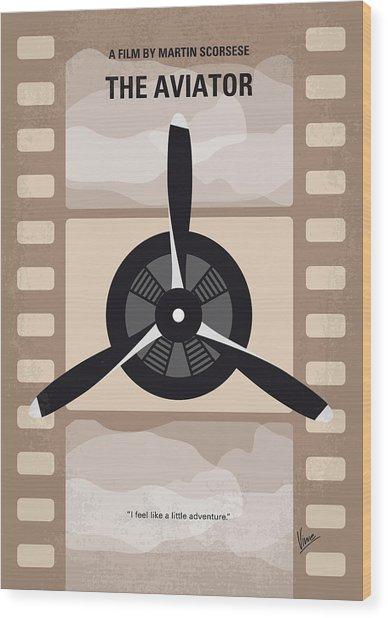 No618 My The Aviator Minimal Movie Poster Wood Print