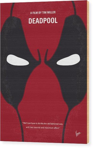No639 My Deadpool Minimal Movie Poster Wood Print