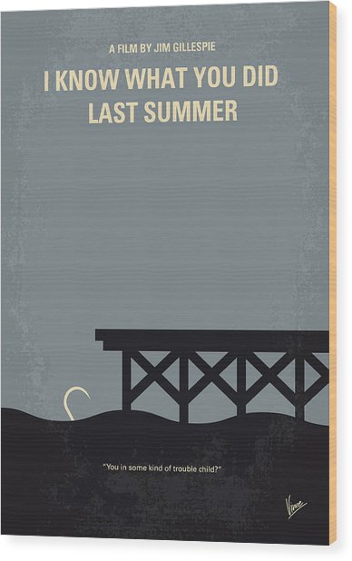 No650 My I Know What You Did Last Summer Minimal Movie Poster Wood Print