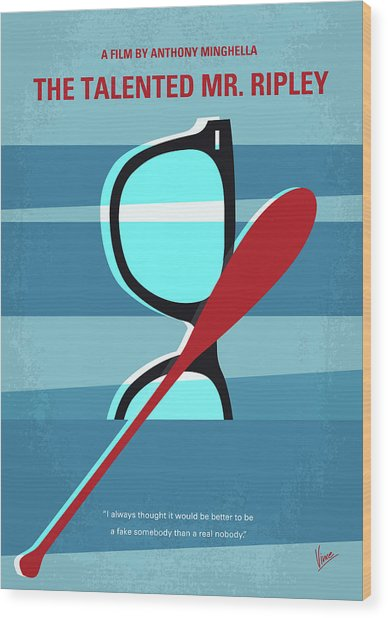 No694 My The Talented Mr Ripley Minimal Movie Poster Wood Print