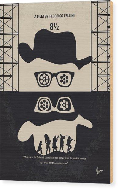 No731 My 8 1 2 Minimal Movie Poster Wood Print