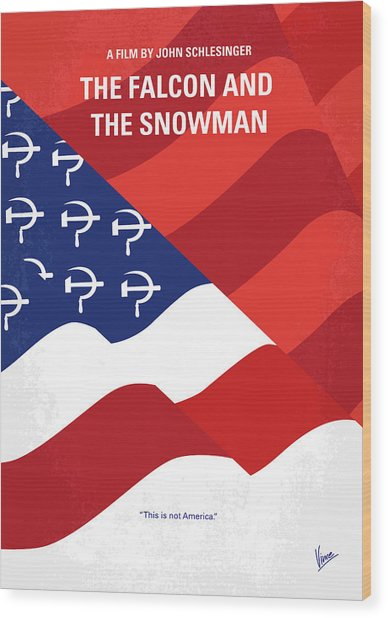 No749 My The Falcon And The Snowman Minimal Movie Poster Wood Print