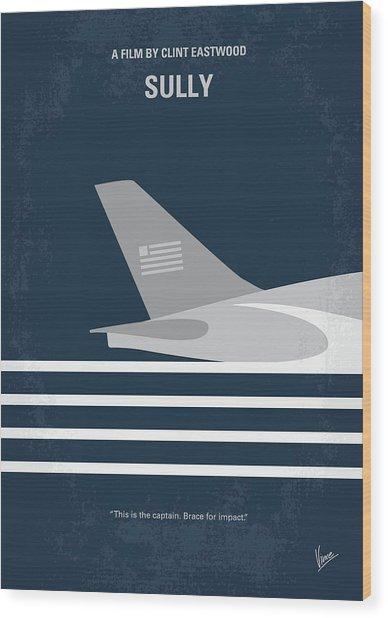 No754 My Sully Minimal Movie Poster Wood Print