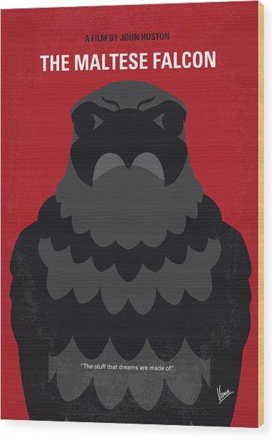 No780 My The Maltese Falcon Minimal Movie Poster Wood Print