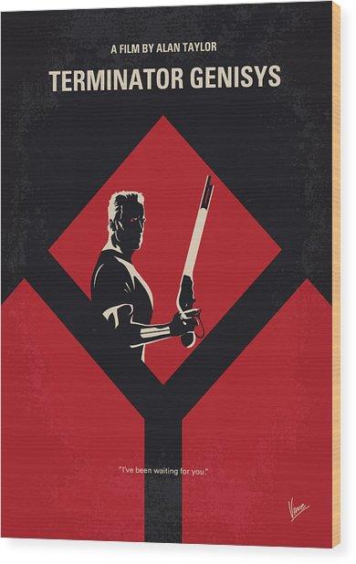 No802-5 My The Terminator 5 Minimal Movie Poster Wood Print