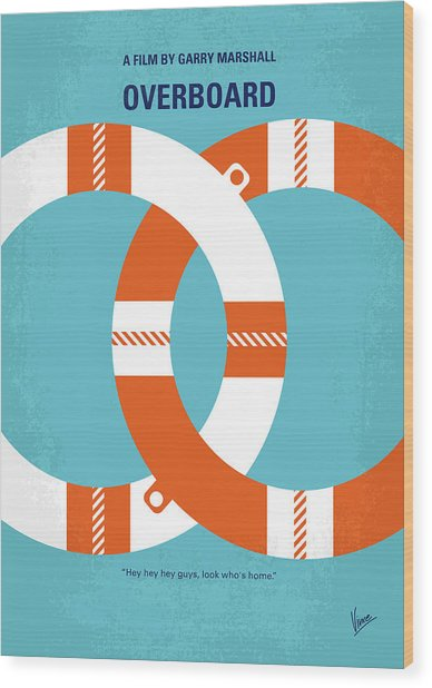 No815 My Overboard Minimal Movie Poster Wood Print