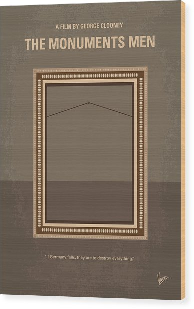 No845 My The Monuments Men Minimal Movie Poster Wood Print
