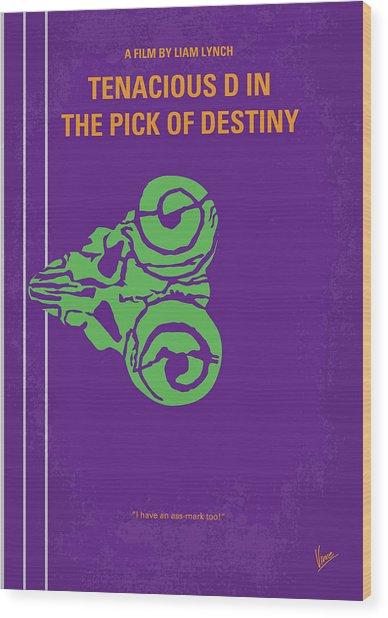 No863 My The Pick Of Destiny Minimal Movie Poster Wood Print