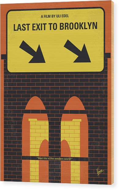 No879 My Last Exit To Brooklyn Minimal Movie Poster Wood Print