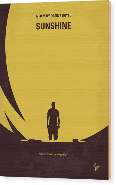 No947 My Sunshine Minimal Movie Poster Wood Print
