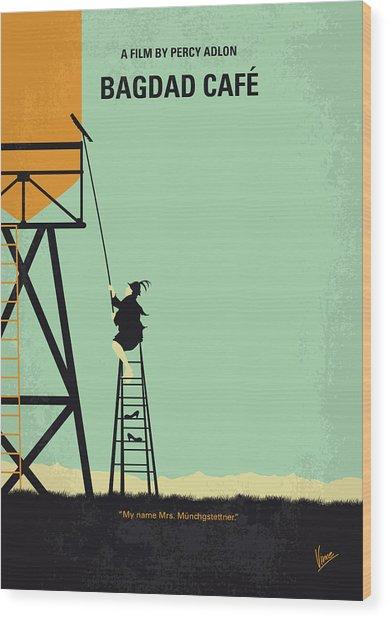 No964 My Bagdad Cafe Minimal Movie Poster Wood Print