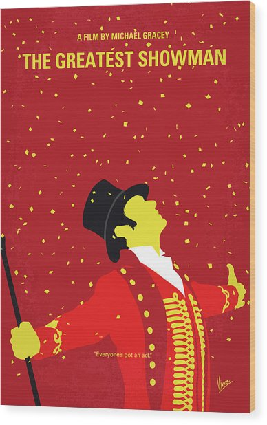 No965 My The Greatest Showman Minimal Movie Poster Wood Print