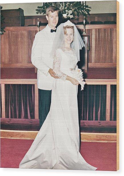Noble And Vernice Wedding Formal Portrai Wood Print