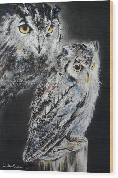 Noble Owl Guardian Of The Afterlife Wood Print